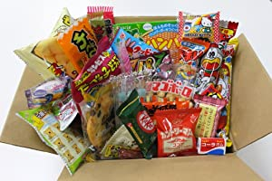 Japanese Candy Ninja 25 Assorted Japanese Candy and Snack Okashi Set with Original Sticker