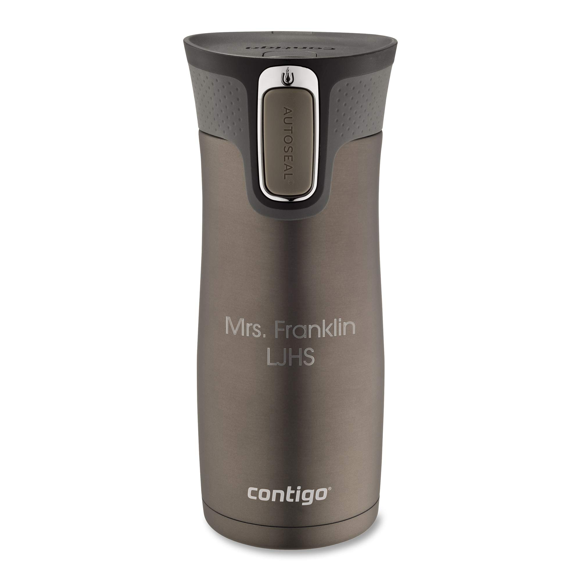 Personalized Contigo Latte West Loop Autoseal 16 Oz Stainless Steel Travel Mug, Mug with Engraving Included