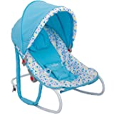 BAYBEE Baby Boy's and Girl's Rocker/Bouncer/Carry Cot (Blue)