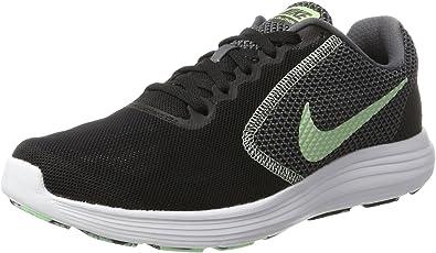 Nike Revolution 3, Zapatillas de Running para Mujer, Negro (Black/Fresh Mint-White-Dark Grey), 40.5 EU: Amazon.es: Zapatos y complementos
