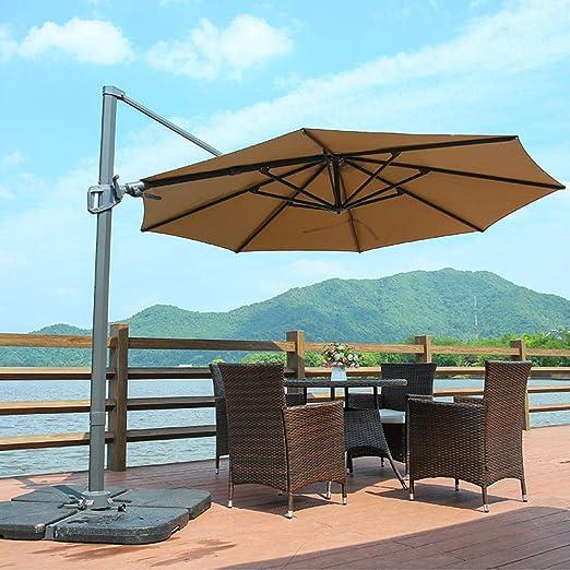 TNKML Sombrilla De Jardín Sombrilla Cantilever Resistente A Los Rayos Ultravioleta Sombrilla De Aleación De Aluminio Duradera para Sombrilla Exterior En Balcón Y Patio Trasero: Amazon.es: Jardín