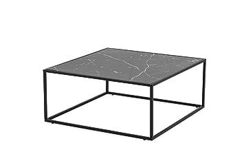 More Design Couchtisch Mdf Metall Marmor Effekt Glanzend Fuss