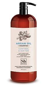 Soapbox Argan Oil Shampoo, Sulfate Free, Paraben Free, Silicone Free, Color Safe, and Vegan Hair Shampoo (33.8 Ounces)
