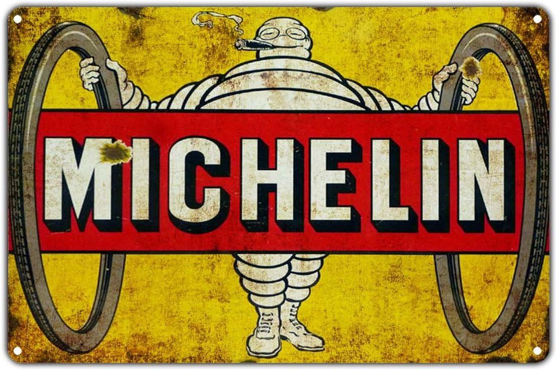 "1925 Michelin Man Tire Cave Garage Art Decor Shop Metal Sign Repro 9x12/"" 60527"