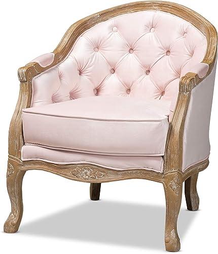 Baxton Studio Chairs, One Size, Light Pink Oak