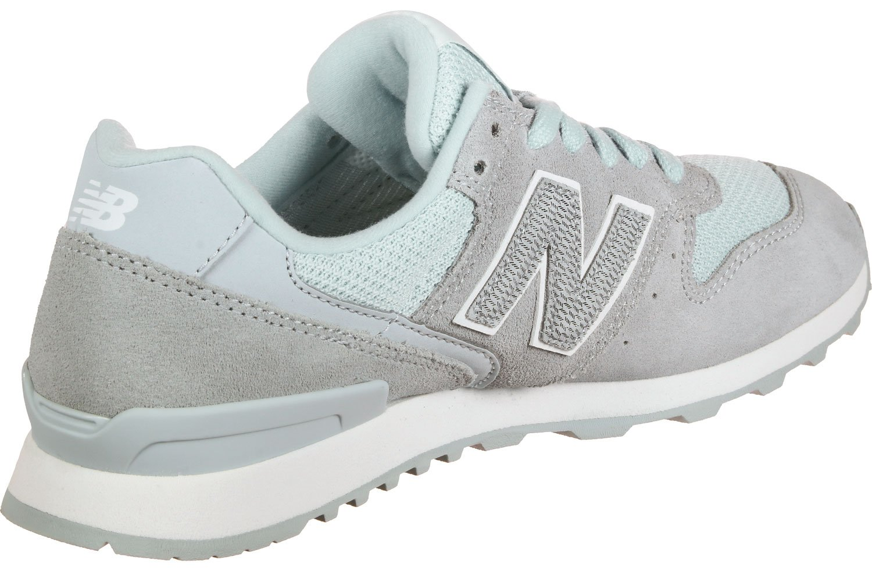 New Balance Mujer Azul MR996 Zapatillas 36 EU|Blanco-grises-celeste