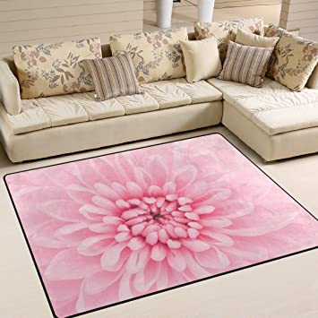 Amazon.com: DEYYA Contemporary Floral Background Design Non-Slip ...