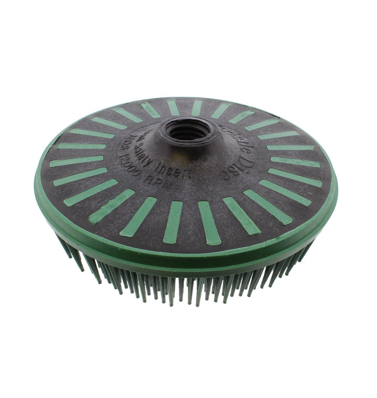 3M Abrasive 048011-24241 Scotch-Brite Bristle Discs, 4 1/2'', 50 RPM and 12,000 RPM, Green by 3M