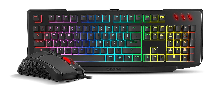 Ozone Gaming Double Tap Es - Kit Teclado & ratón, Color Negro: Amazon.es: Informática