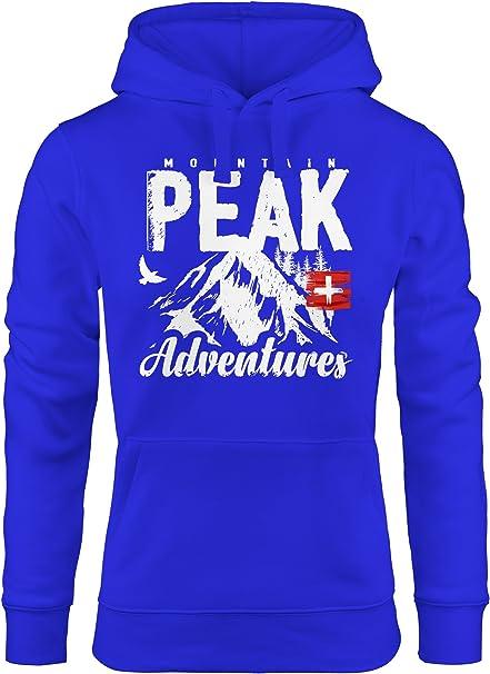 MoonWorks Kapuzen Pullover Damen Mountain Adventures Hoodie