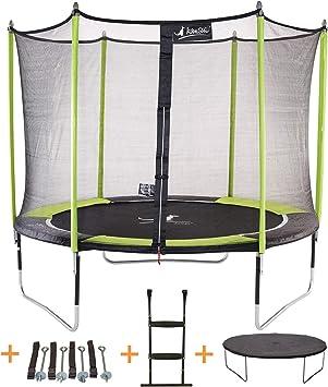 KANGUI - Cama elástica de jardín Redondo 305 cm + Red de Seguridad + Escalera + Funda de protección + Kit Anclaje | JUMPI Pop 300: Amazon.es: Deportes y aire libre