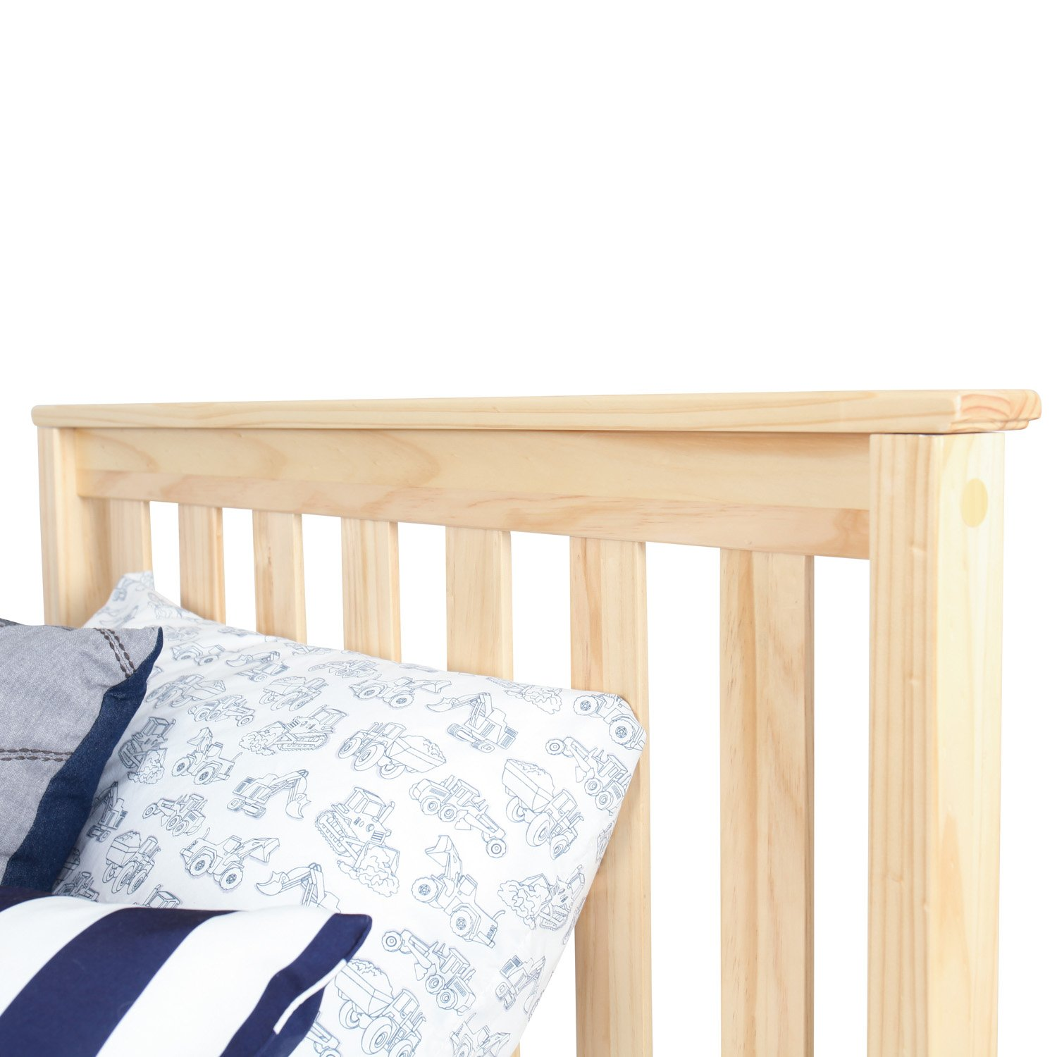 Max & Lily Solid Wood Twin-Size Bed with Under Bed Storage Drawers, Natural by Max & Lily (Image #5)