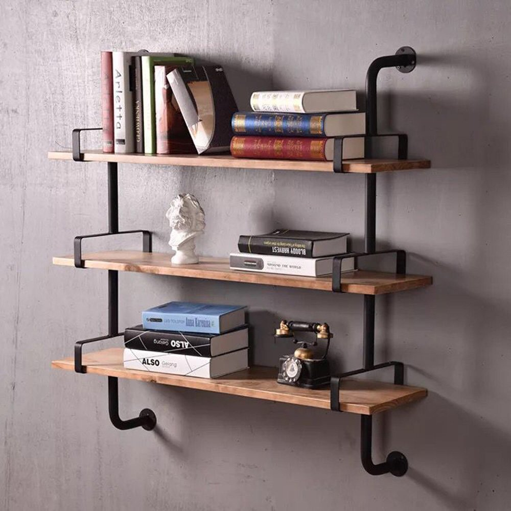 WYZ Reclaimed Wood & Industrial DIY Pipes Shelves Steampunk Rustic Urban  YIZHUO H3