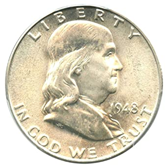 1954-D Franklin Silver Half Dollar PCGS MS-64 FBL 156240
