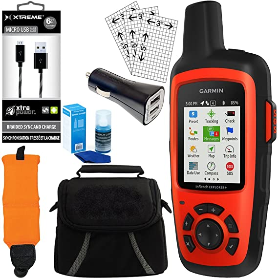 Amazon.com: Garmin inReach Explorer + GPS Bundle W/Cargador ...