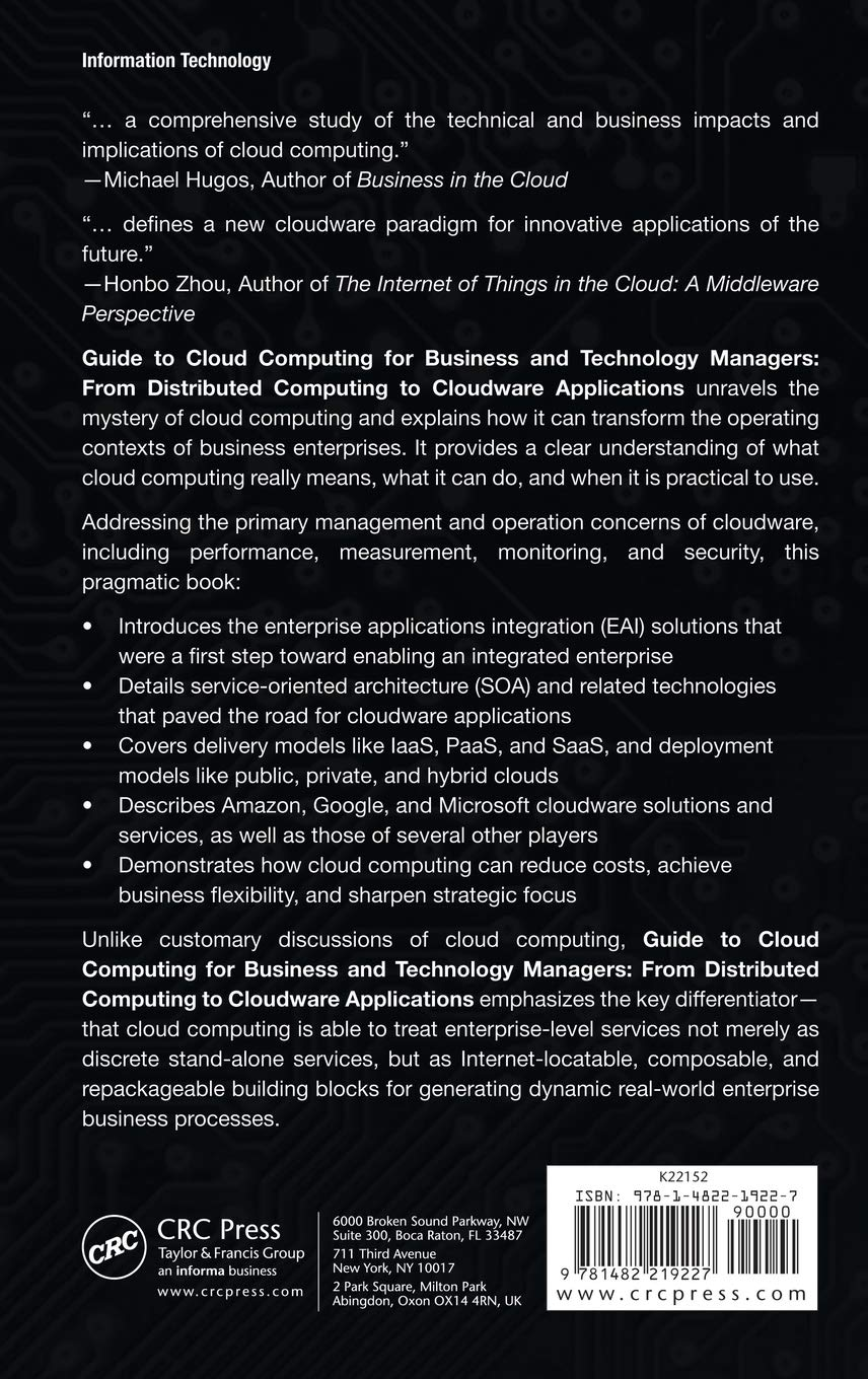 Guide to Cloud Computing for Business and Technology Managers: From  Distributed Computing to Cloudware Applications: Amazon.co.uk: Vivek Kale:  ...