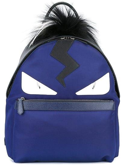 36df1723f9 Fendi Men s 7Vz0128fmf06hv-Mcf Blue Leather Backpack  Amazon.co.uk  Clothing