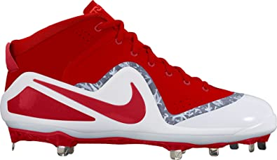 9ff35a58a66c Nike Men s Force Zoom Trout 4 Baseball Cleat University Red White Size 9.5  ...