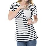 juqilu Plus Size Breastfeeding Shirt Womens Scoop Neck Sleeveless Nursing Layered T-Shirt Maternity Stretch Vest Top Tee