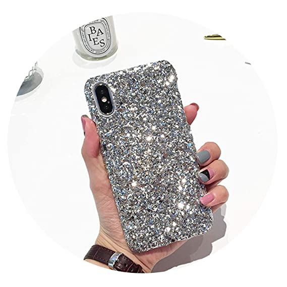size 40 417f4 2d0e9 Amazon.com: Fashionable Glitter Hard Cover for iPhone 8 Plus Bright ...