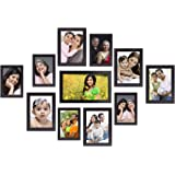 Amazon Brand - Solimo Collage Photo Frames, Set of 11,Wall Hanging (5 pcs - 4x6 inch, 5 pcs - 5x7 inch, 1 pc - 6x10 inch), Black