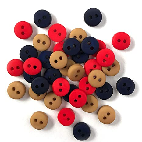 Dress It Up JBT-3244 Micro Mini Round Buttons Multicolor