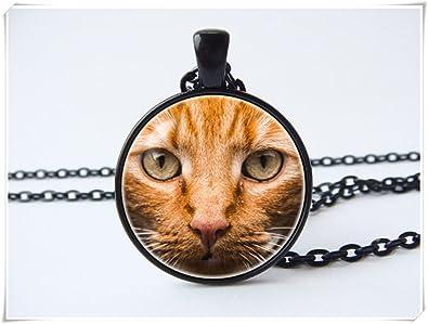JUN Collar de gato, collar de gato rojo, joyería para gatos, joyería para