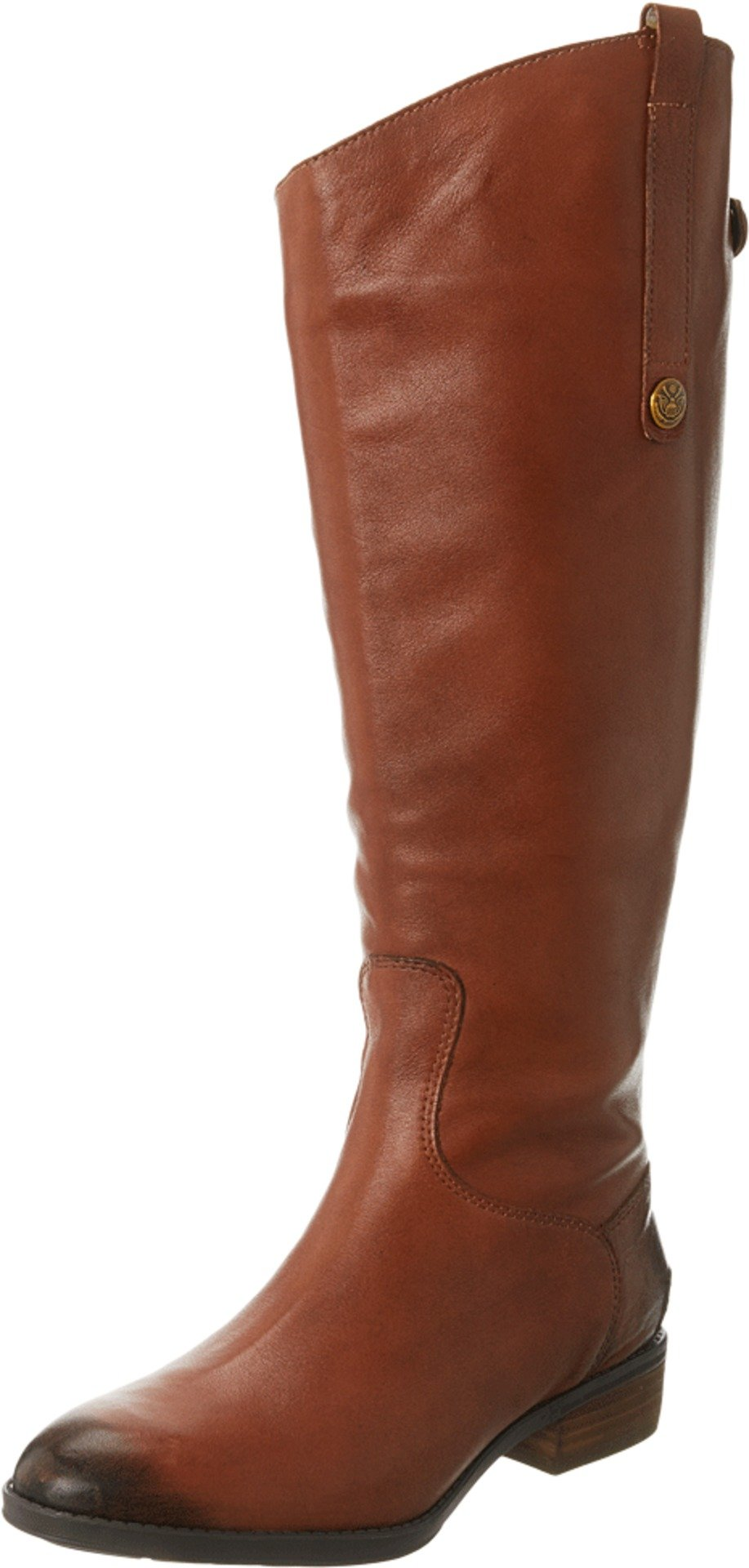 Sam Edelman Women's Penny 2 Wide Shaft Riding Boot, Whiskey Leather, 9 M US