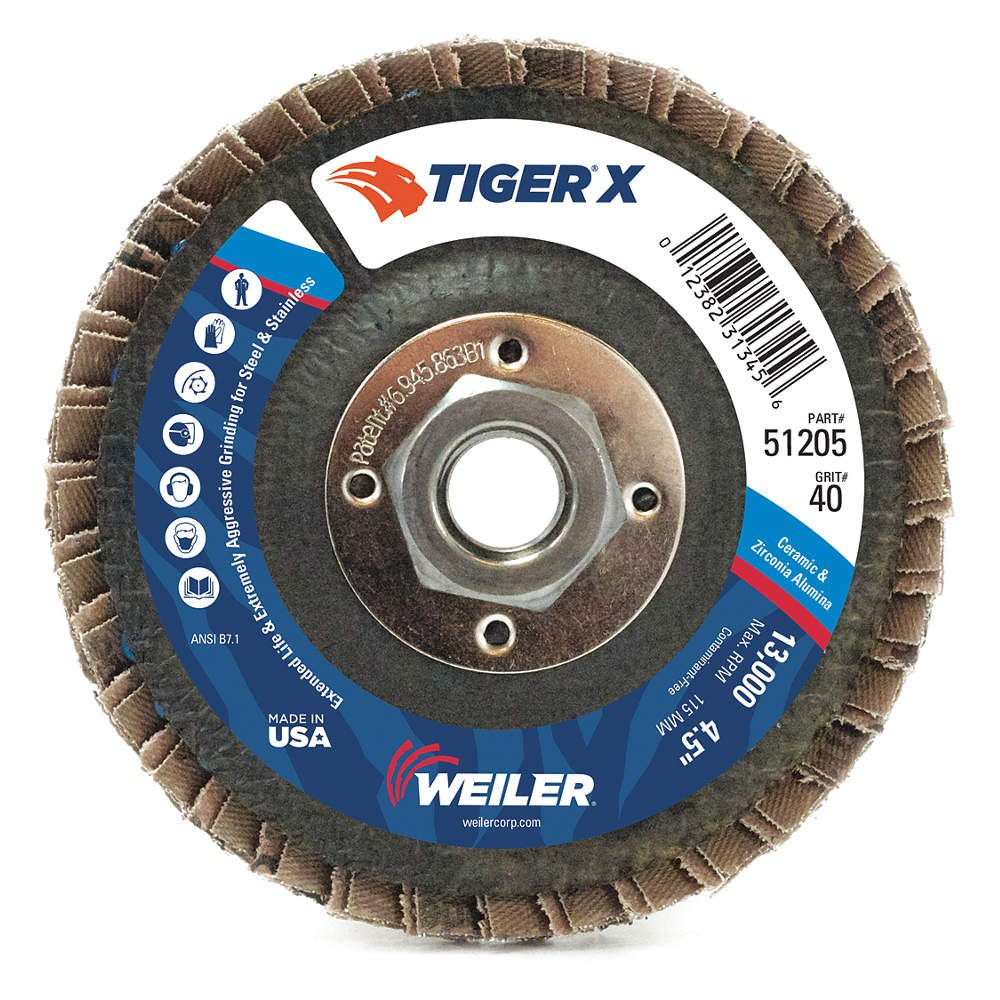 4-1//2 x 7//8 T27 Pack of 10 4-1//2 x 7//8 4.5 Type Osborn 5211436572 27 Ceramic 60 Grit Flap Disc 4.5 Type Pack of 10 EXT 60