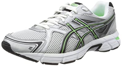 ASICS GEL-PURSUIT Running Shoes, White/Black/Neon Green, 6.5 UK