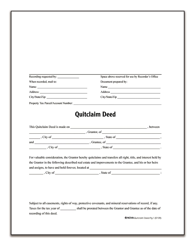 Amazon.com : Adams Quitclaim Deed, Forms and Instructions (LF298 ...