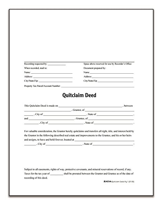 Warranty Deed Form Quitclaim Deed Form Free Printable Quitclaim