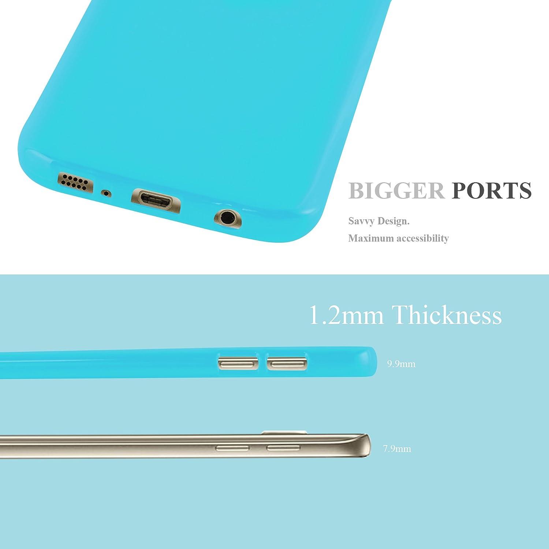 Ultra Slim Fin Gel Case Cover Bumper Rayures Housse Protection Souple en Silicone TPU avec Anti Cadorabo Coque pour Samsung Galaxy S7 en Jelly Rouge Choc et Anti