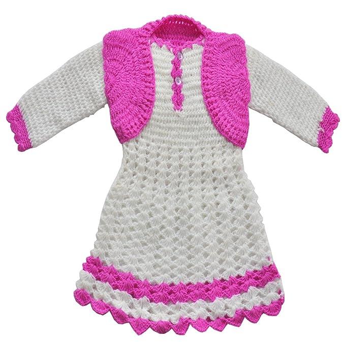 c811f4ff3fe3 Apna Showroom Baby Girl s Woolen Winter Wear Sweater Dress Set of ...