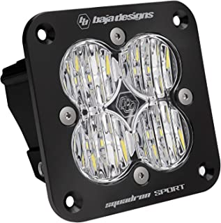 product image for Baja Designs Squadron Sport Flush Mount UTV LED Light Wide Cornering Pattern