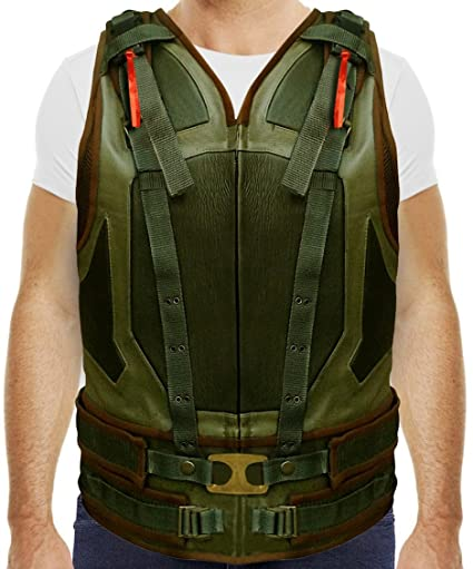 Tom Hardy Bane Vest In Military Green Faux Leather At Amazon Men's ...