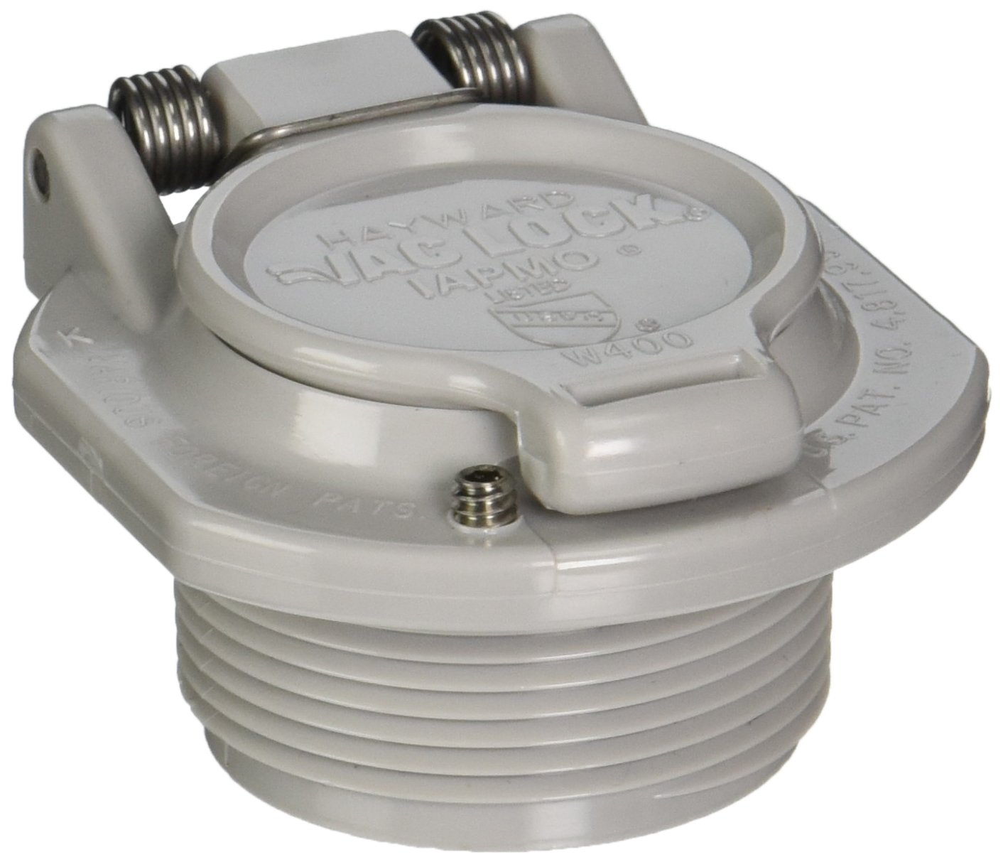 Hayward W400BLGP Light Gray Free Rotation Vacuum Lock Safety Wall Fitting Replacement for Hayward Navigator Pool Cleaners
