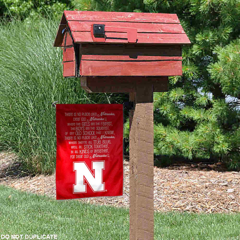 College Flags and Banners Co Nebraska Cornhuskers Fight Song Garden Flag
