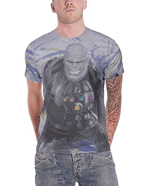 d863d957b Avengers Infinity War T Shirt Thanos Gautlet All Over Official ...