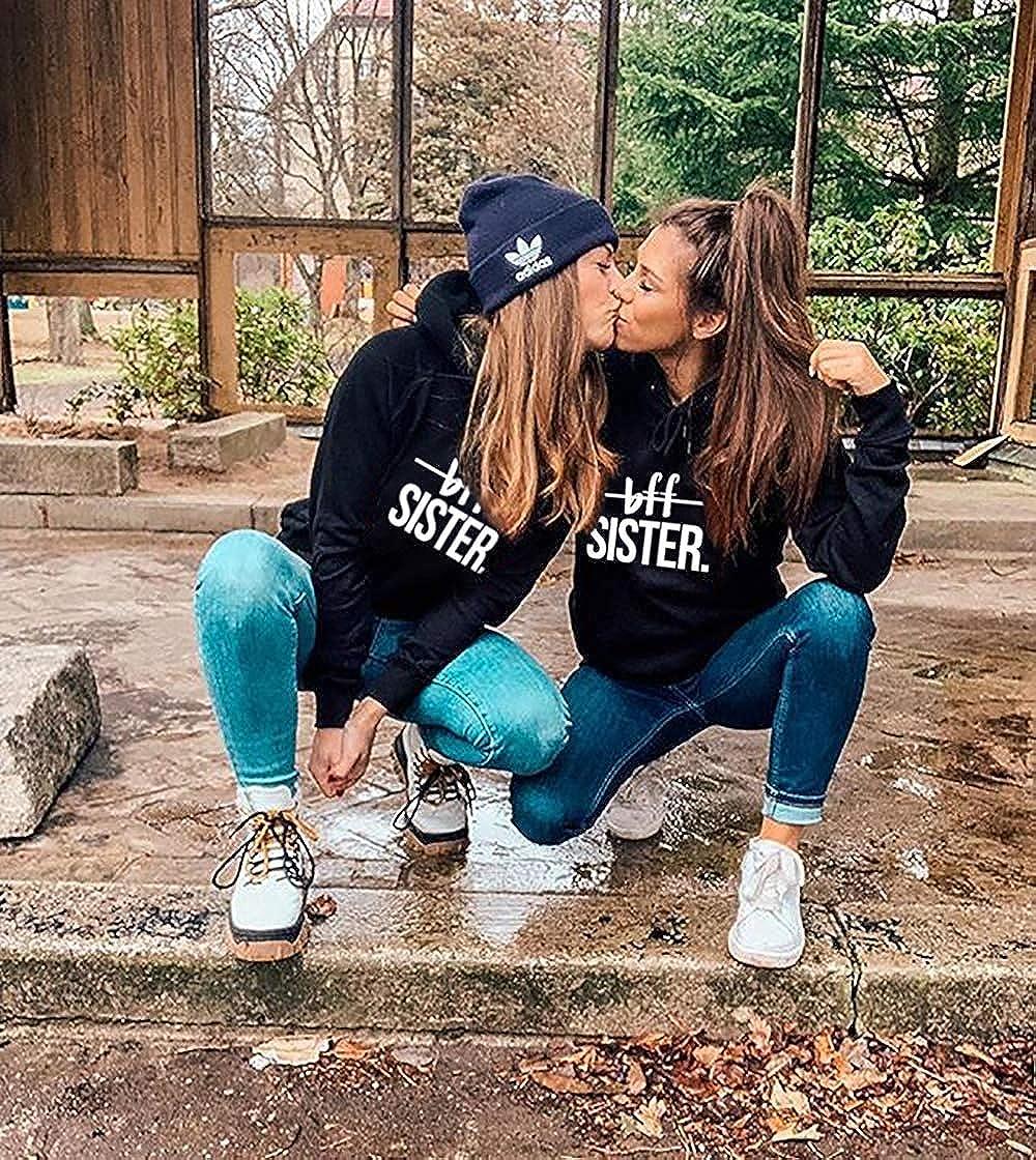 Mixcept Best Friends Pullover Sister Kapuzenpullover f/ür M/ädchen Sister Hoodies Beste Freunde Pullover BFF 1 St/ücke Hoodie f/ür Damen Pulli Freundin Geschenke