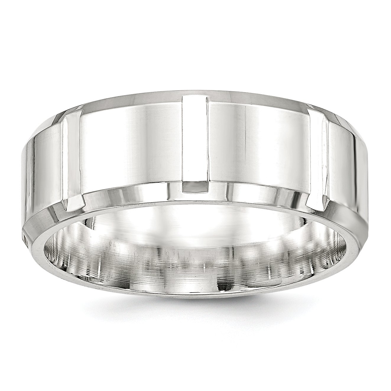 925 Sterling Silver 8mm Wedding Band Ring