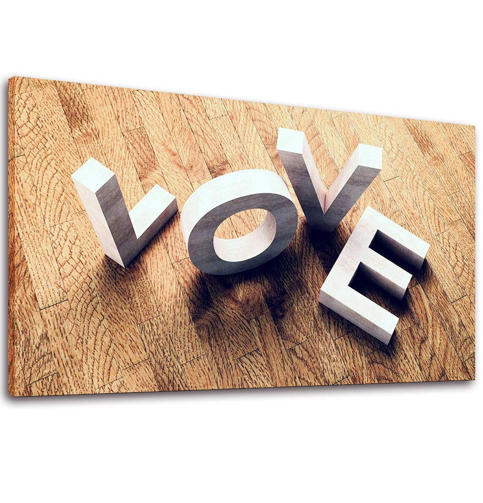 Canvas Wall Art Romantic 3D Love on Wood- 20