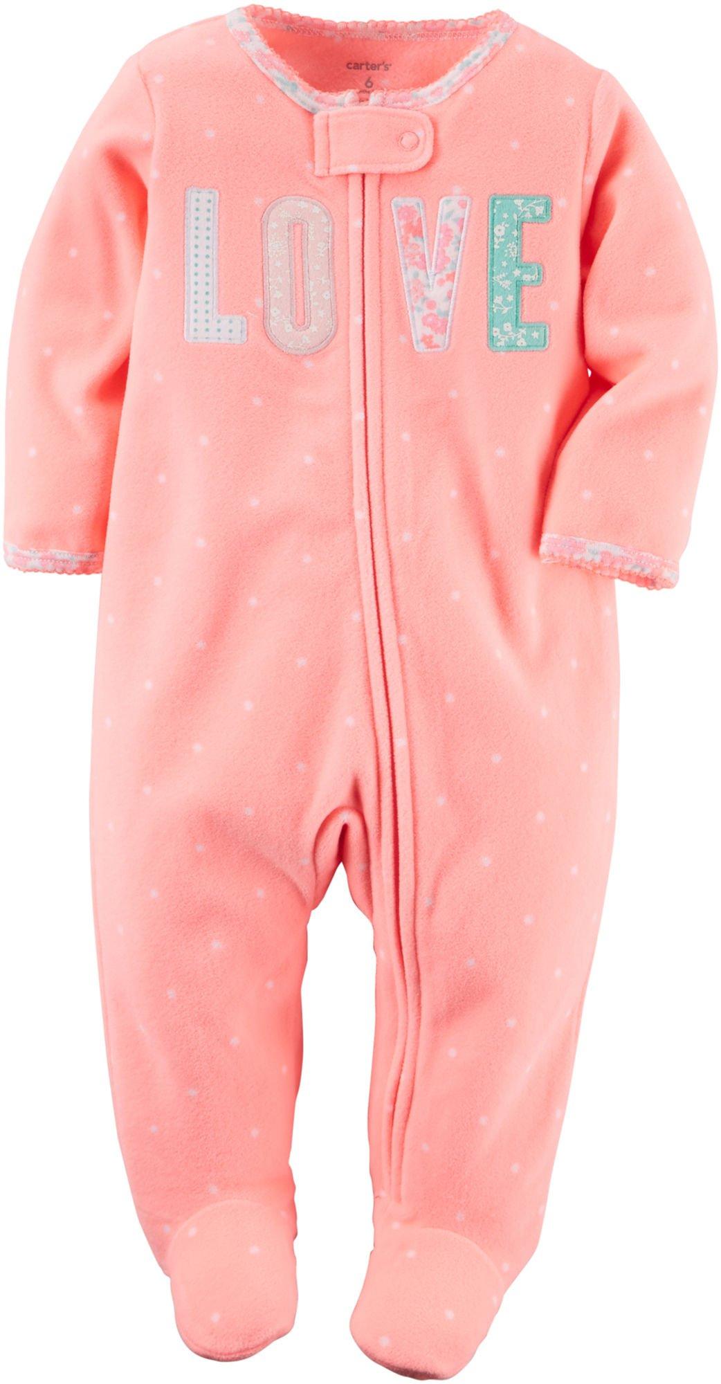 Carter's Baby Girls' Microfleece 115g148, Coral, 6