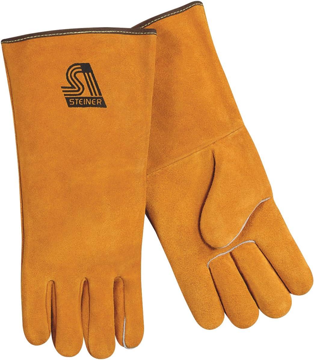 Side Split Cowhide Steiner 02120-L Premium Welding Gloves Large