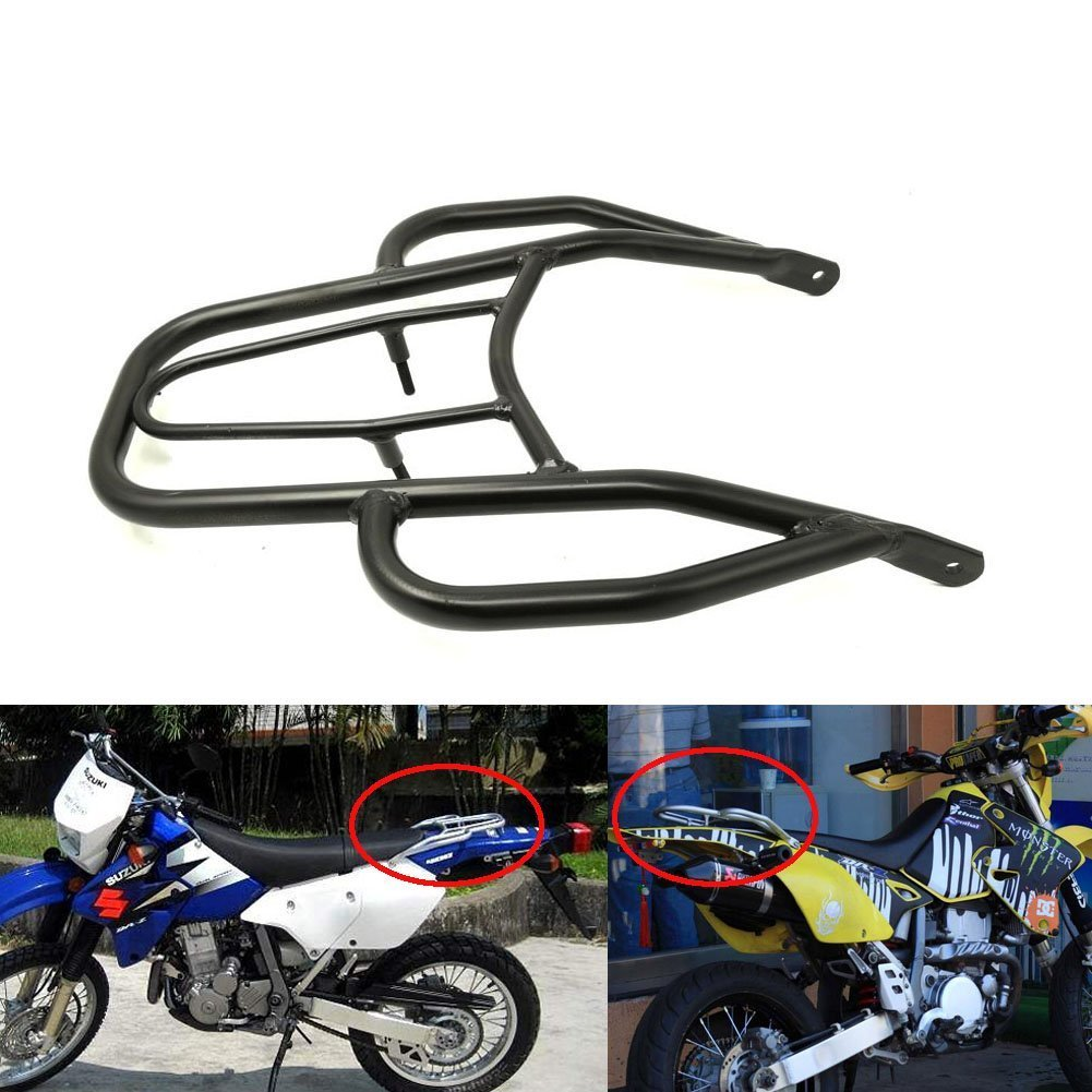 Alpha Rider Black Handle Wing Style Rear Seat Rack Luggage Shelf Holder Rack Stock For Suzu ki DRZ-400 E/S / SM 2000-2015 Motofans