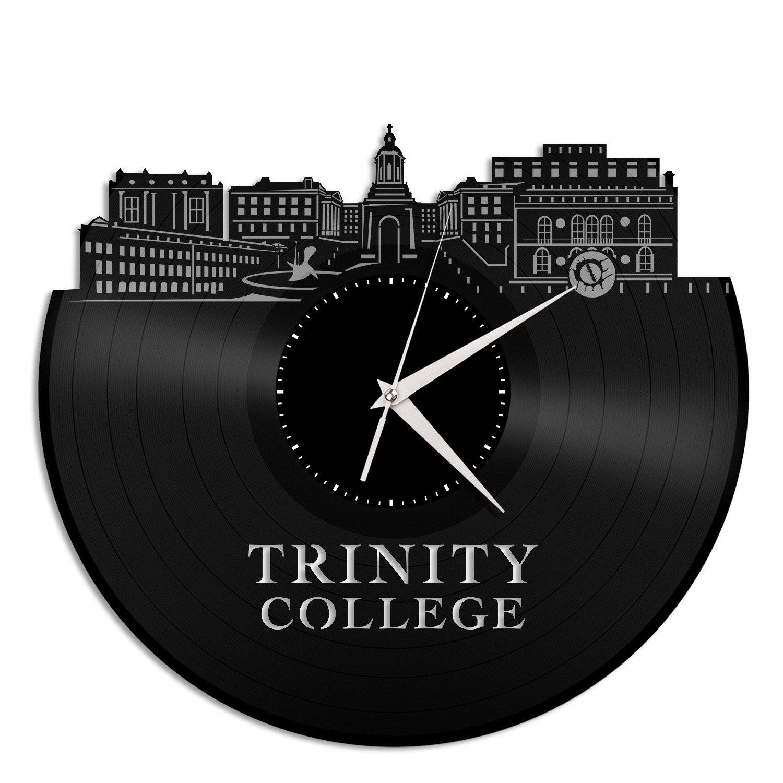 VinylShopUS Trinity College Dublin Vinyl Wall Clock City Skyline Unique Gift Office and Bedroom | Home Decoration