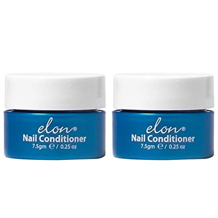 Elon Lanolin-Rich Nail Strengthener Conditions Nails Protects Cuticles Recommended by Dermatologists Podiatrists 2 Pack 7.5g jar