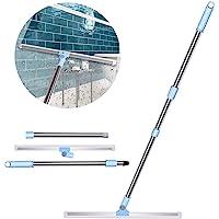 Waterschuiver Vloertrekker met Dubbele 50cm Siliconen Lippe, Watertrekker met Lange Steel 130cm Douche Trekker Wissers…