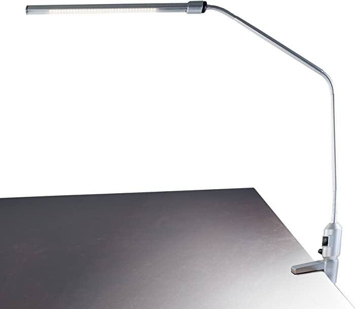 Lavish Home Contemporary Clamp LED Desk Lamp, Silver (41