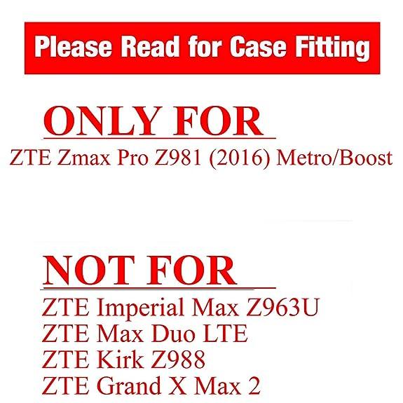 Amazon.com: ZTE ZMAX Pro Kickstand Case, ORANGE Hybrid Shock Proof High Impact Armor Kickstand Case by URAKKI - ZTE ZMAX Pro Z981 (2016) / Z Max Pro / ZTE ...